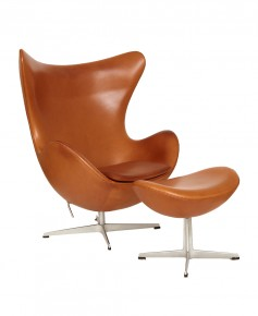 Mid Century Antiques Collection. Arne Jacobsen Egg Chair And Ottoman